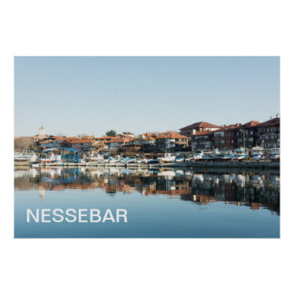 View on famous Bulgarian town Nessebar Poster