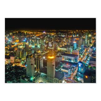 View over Bangkok at night from Baiyoke Tower II Card