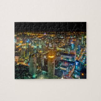 View over Bangkok at night from Baiyoke Tower II Jigsaw Puzzle