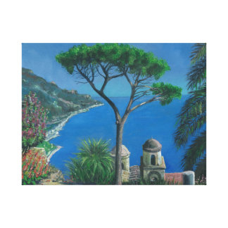 View over Capo D' Orso Sardinia Canvas Print