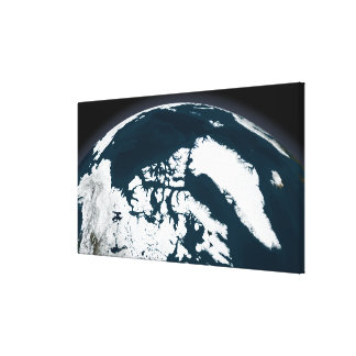 View over Greenland and the Arctic Ocean Gallery Wrapped Canvas