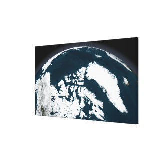 View over Greenland and the Arctic Ocean Canvas Prints