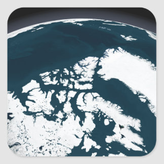 View over Greenland and the Arctic Ocean Square Sticker