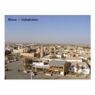 View over Khiva, Uzbekistan Postcard
