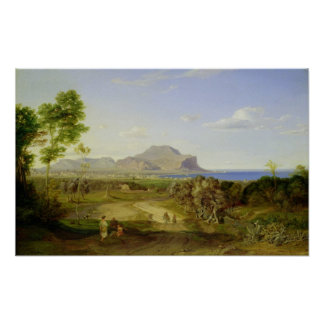 View over Palermo, 1828 Poster
