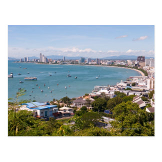 View over Pattaya bay. Postcard