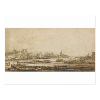 View over the Amstel from the Rampart by Rembrandt Postcard
