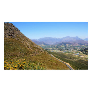 View over the town of Franschhoek in South Africa Business Card