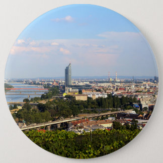 View Over Vienna 6 Inch Round Button