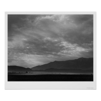 View SW Over Manzanar, Dust Storm 1943 Poster