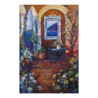 """""""View Through the Arches""""  Watercolor Print"""