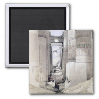 """View through the Hall of Columns, Karnak, from """"Eg Magnets"""