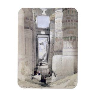 "View through the Hall of Columns, Karnak, from ""Eg Flexible Magnet"