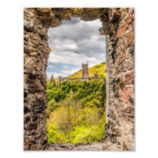 View to old castle photo print