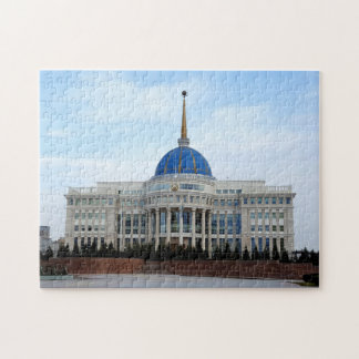 View to President palace in Astana in Kazakhstan Jigsaw Puzzle