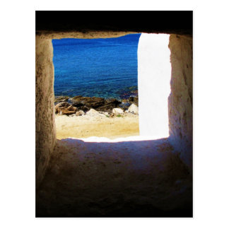 View to the Sea - Mykonos, Greece Postcard