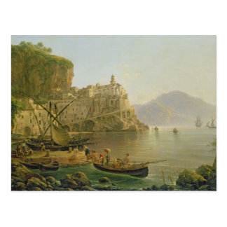 View Towards Atrani on the Amalfi, 1817 Postcard