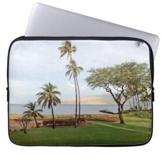 View towards Maalaea Bay from Kihei, Maui, Hawaii Laptop Sleeve