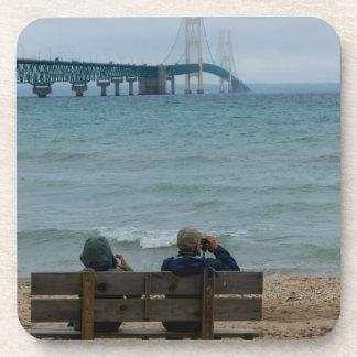 Viewing Mackinac Bridge Coaster