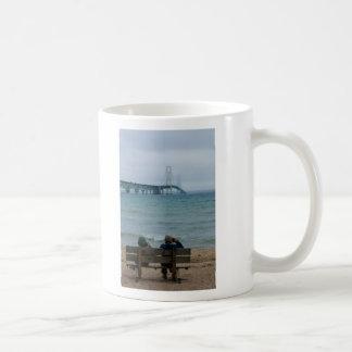 Viewing Mackinac Bridge Coffee Mug