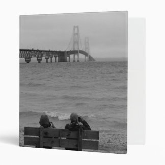 Viewing Mackinac Bridge Grayscale Binder