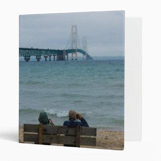 Viewing Mackinac Bridge Vinyl Binder