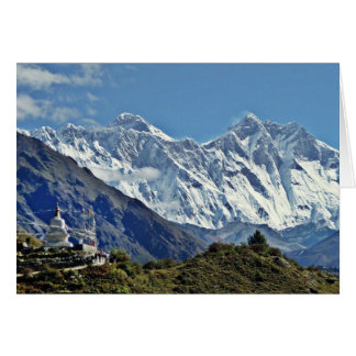 Views from Nepal on way to MOUNT EVEREST Card