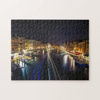 Views from Rialto Bridge at night jigsaw puzzle