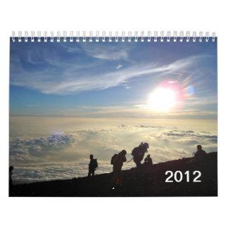 Views from Summit of Mt. Fuji, Japan Calendar