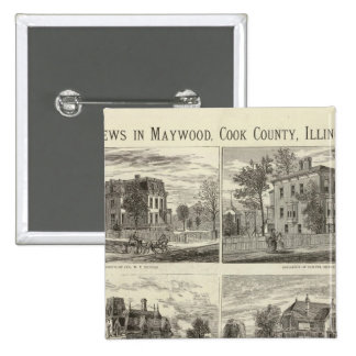 Views in Maywood, Cook County, Illinois 2 Inch Square Button