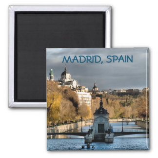 Views next to the river Manzanares in winter, Magnet