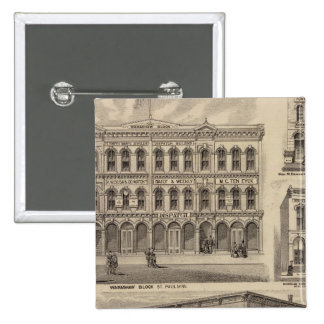 Views of Moore's and Wabashaw, Minnesota 2 Inch Square Button