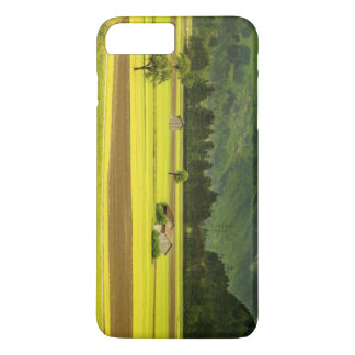 Views of orchards and fields under mountains iPhone 7 plus case