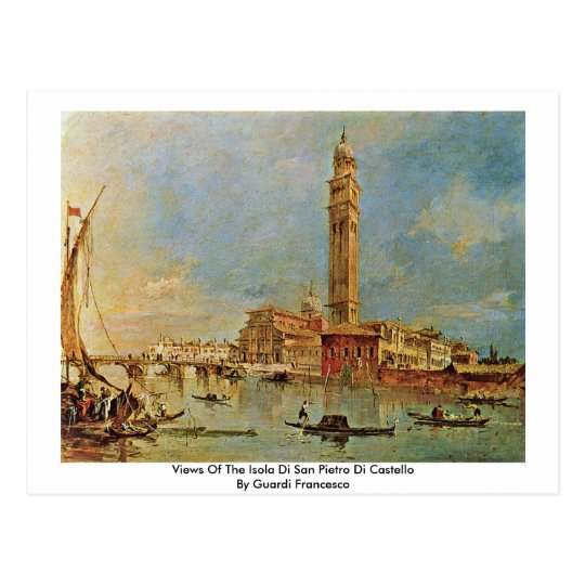 Views Of The Isola Di San Pietro Di Castello Postcard