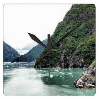 Views Through a Fjord Clock
