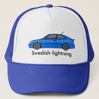 viggen _lb, Swedish lightning Trucker Hat