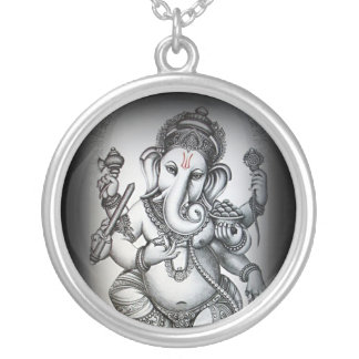 Vighnaharta (Ganesha) Silver Plated Necklace
