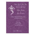 """Vighneshvara Wedding Invitations 5"""" X 7"""" Invitation Card"""