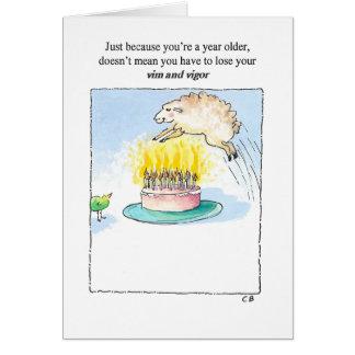 """""""Vigor"""" Birthday Card"""