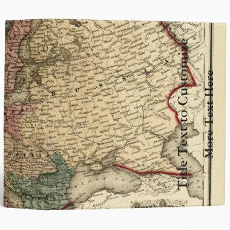 Viintage 1874 Europe Map 3 Ring Binders