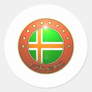 Vikelt shield round sticker