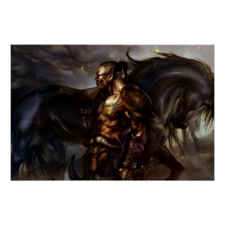 Viking And Horse Poster