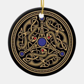 Viking Art Design Round Ceramic Ornament