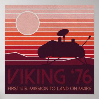 Viking Artwork, Lander Silhouette Poster