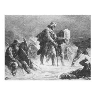 Viking Battle by Knud Bergslien Postcard