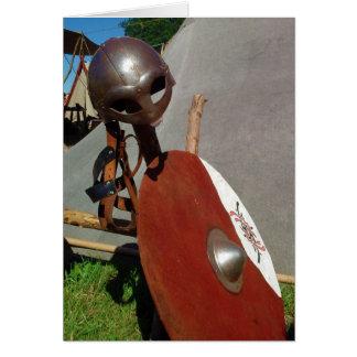 Viking Battle Gear, greeting card
