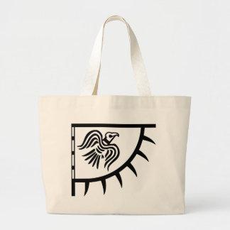 Viking Black Raven Banner Jumbo Tote Bag