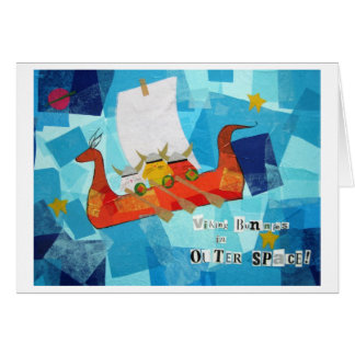 Viking Bunnies in Outer Space Card