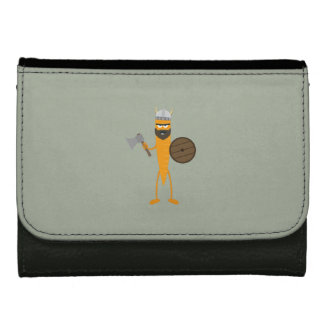 Viking carrot leather wallets