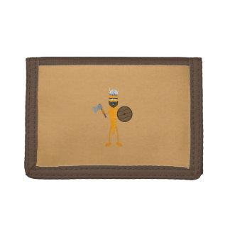 Viking carrot trifold wallet